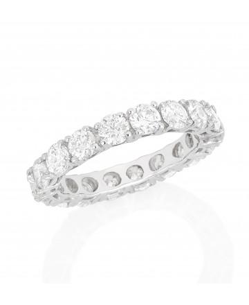 Aliança Inteira Diamante Branco