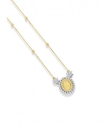Medalha  N. Sra das Graças  Diamante Pequena
