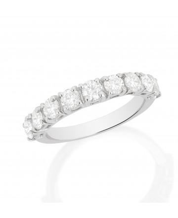 Meia Aliança Diamante Branco