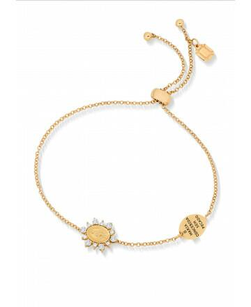 Pulseira N. Sra. Das Graças Diamantes Ouro Amarelo